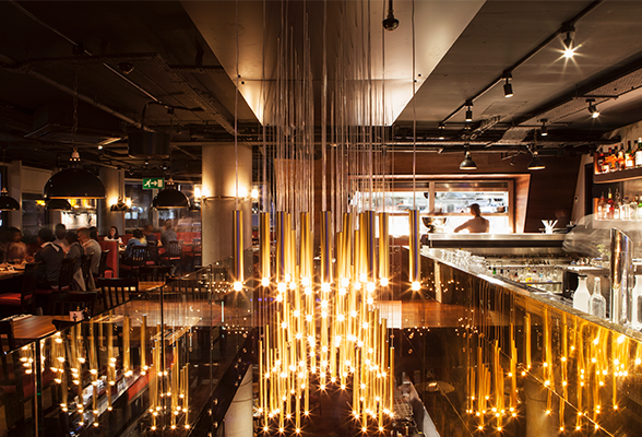 Burger lobster interiors by designlsm