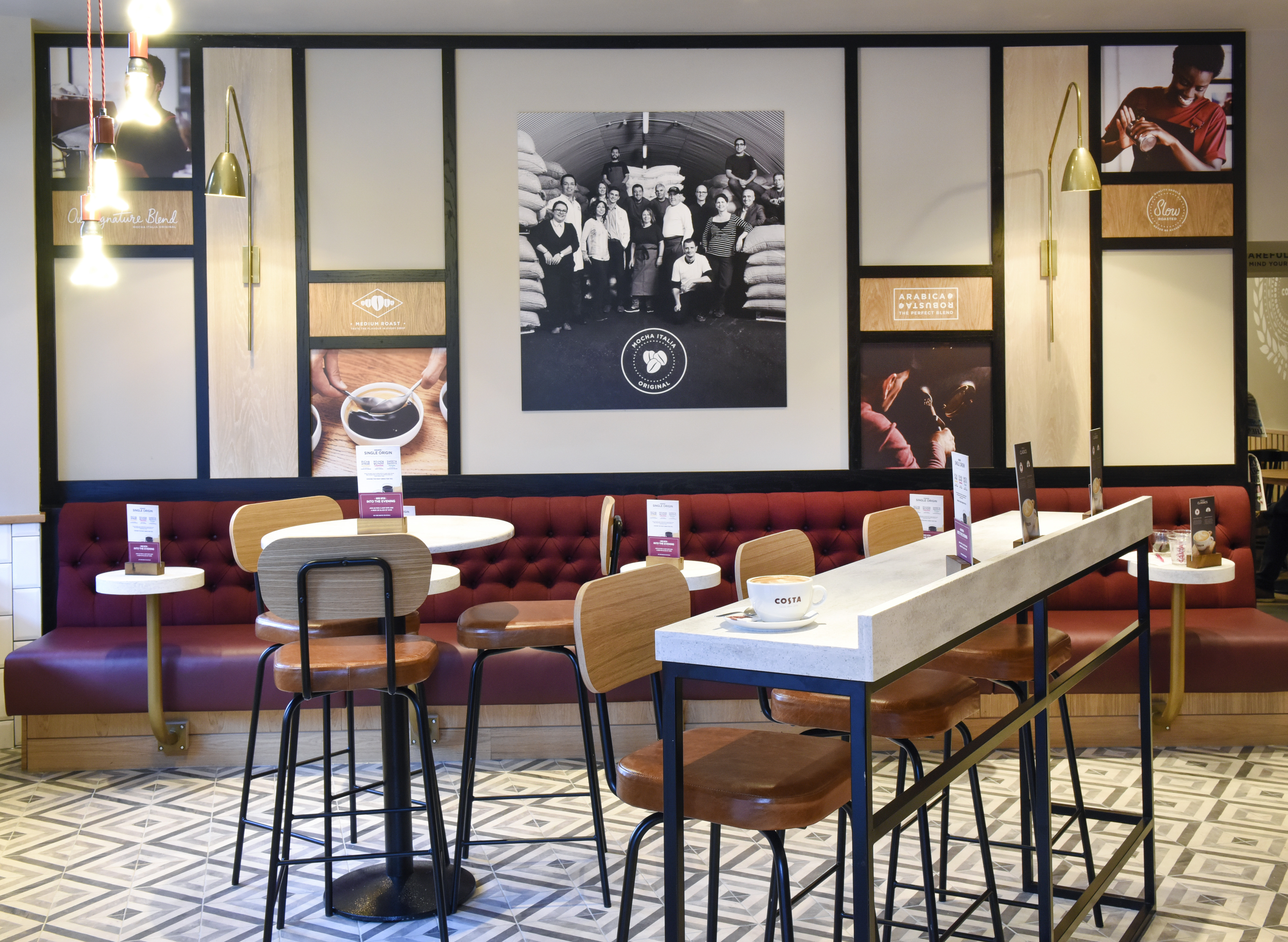 Costa Coffee Trials New Store Design Concept In London Design Week - Costa coffee table