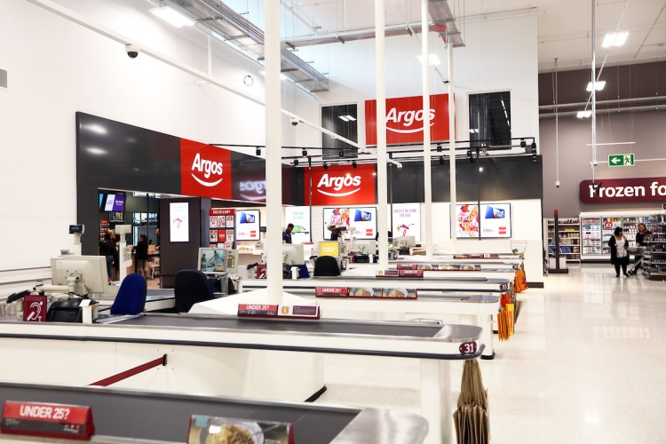 sainsbury s rolls out argos click and collect concept design week