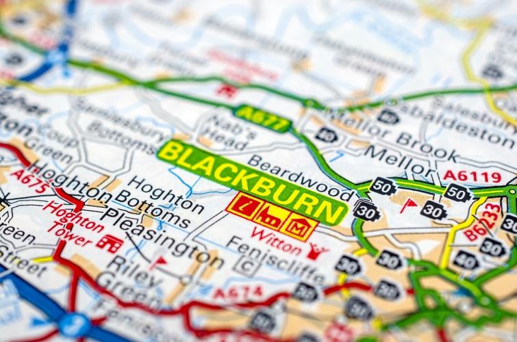 Blackburn on road map