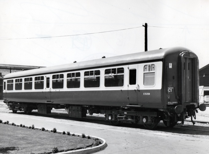 Mark II passenger coach of 1967 developed from the xp64 prototypes