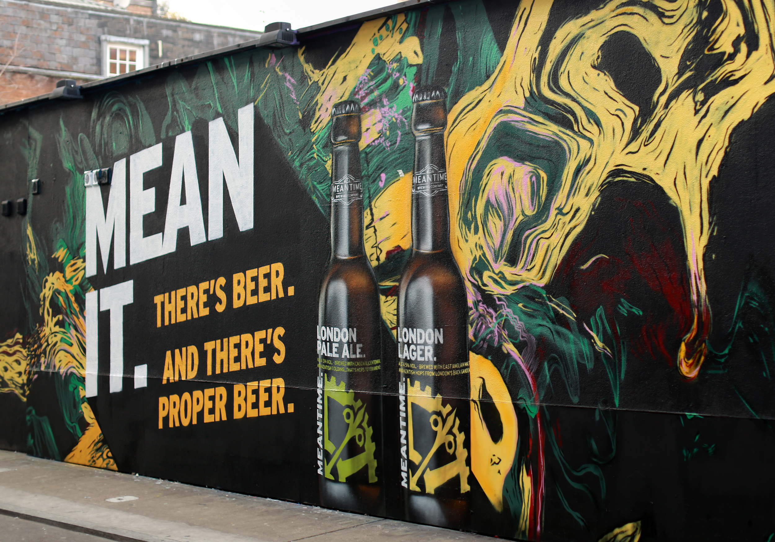 Meantime brewing company mural by leif podhajsky for Mural meaning