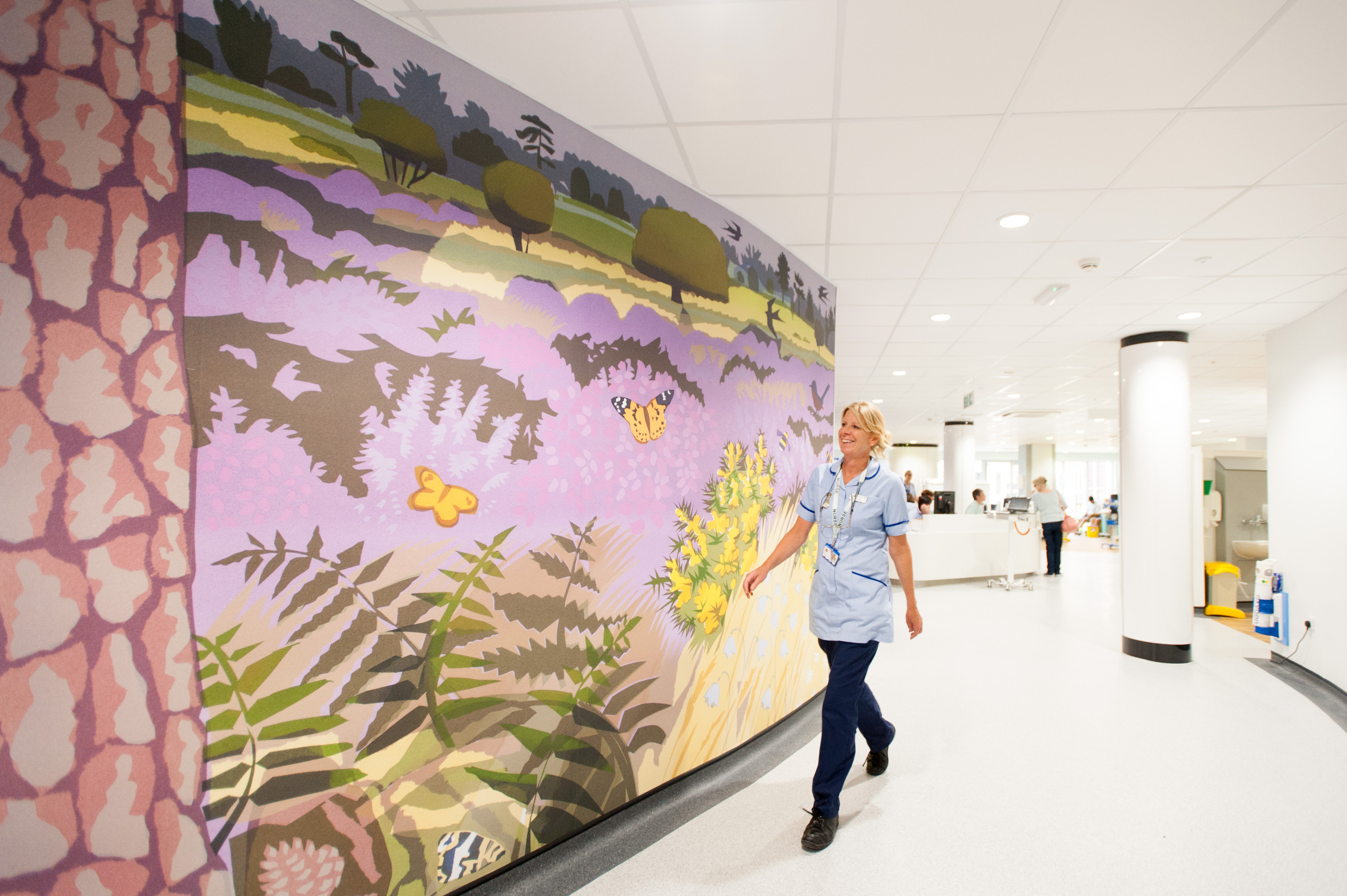 Art work in the Macmillan Woolverstone Centre, Ipswich Hospital. Picture by Clint Randall www.pixelprphotography.co.uk