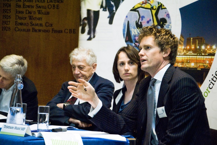 On the far right: Tristram Hunt MP, courtesy of Flickr user CentreforCities