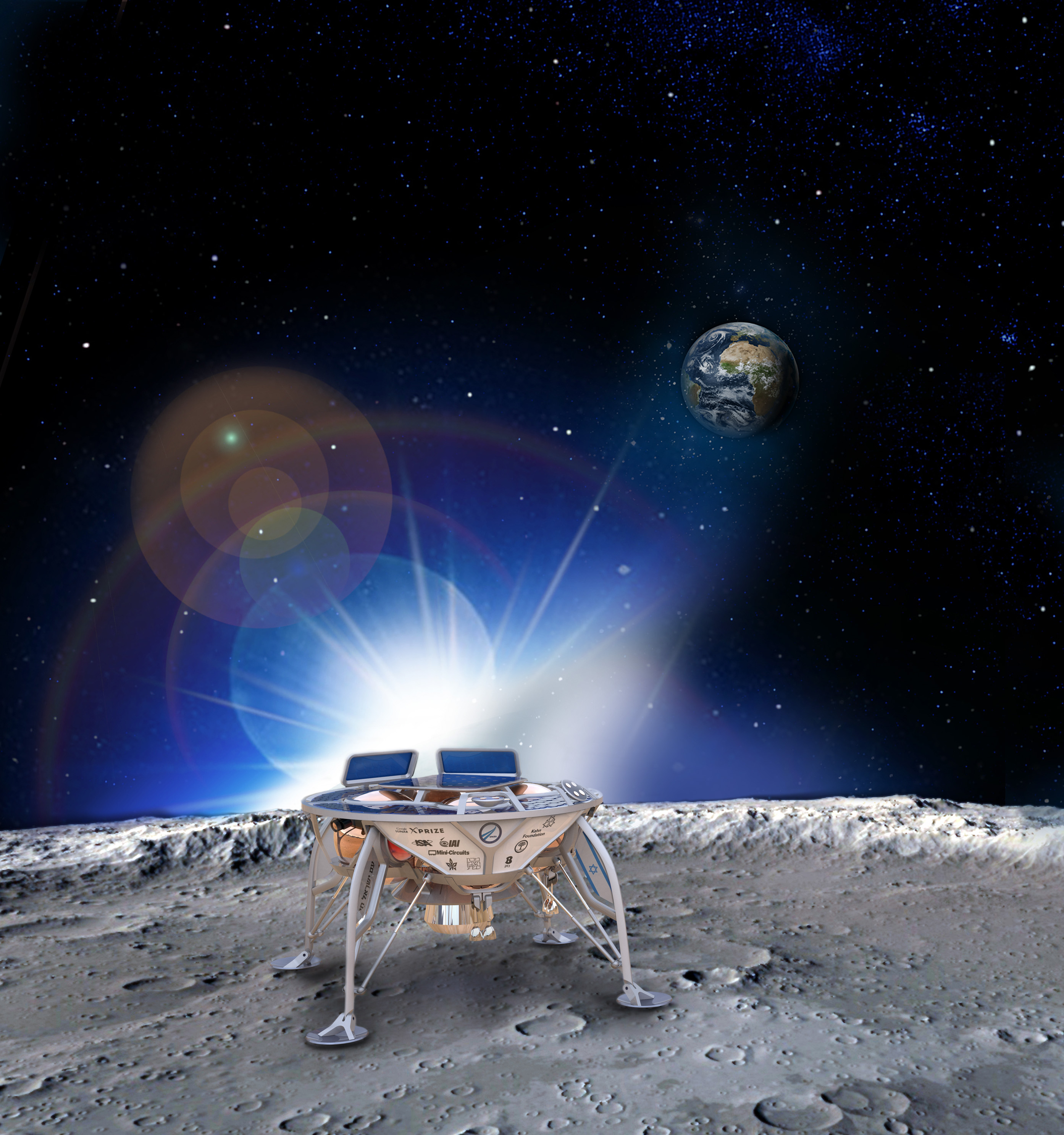 Courtesy of SpaceIL, Google Lunar XPRIZE