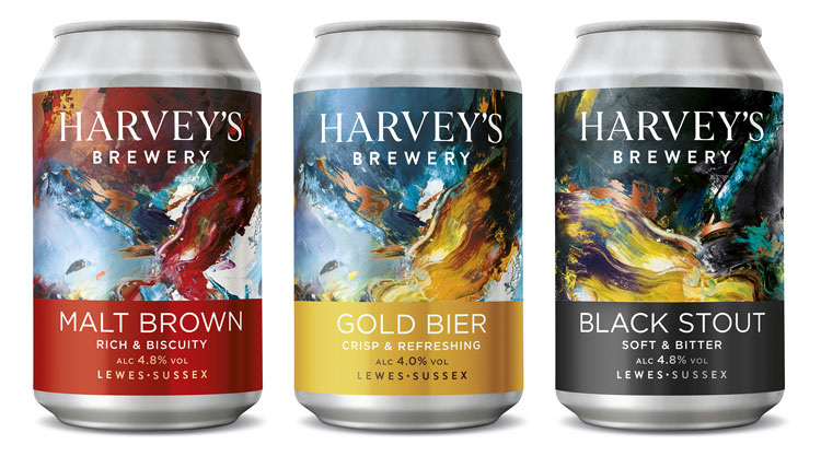 Harvey S Brewery Craft Beer Can Design By Wpa Pinfold