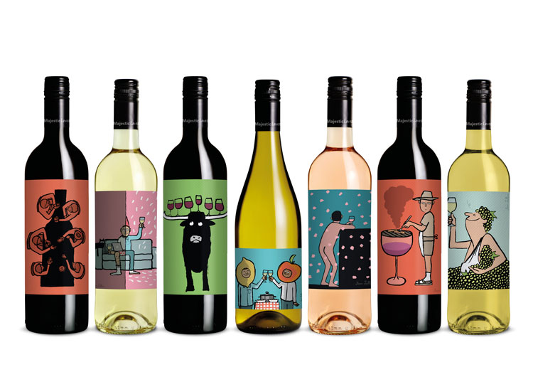 Jean Jullien Illustrates Wine Labels With No Name For Majestic Wine