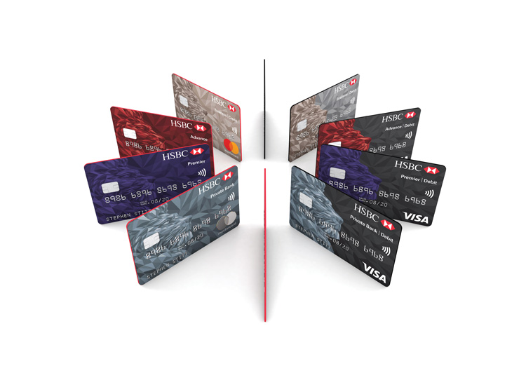 "HSBC rolls out new ""simplified"" bank card design 