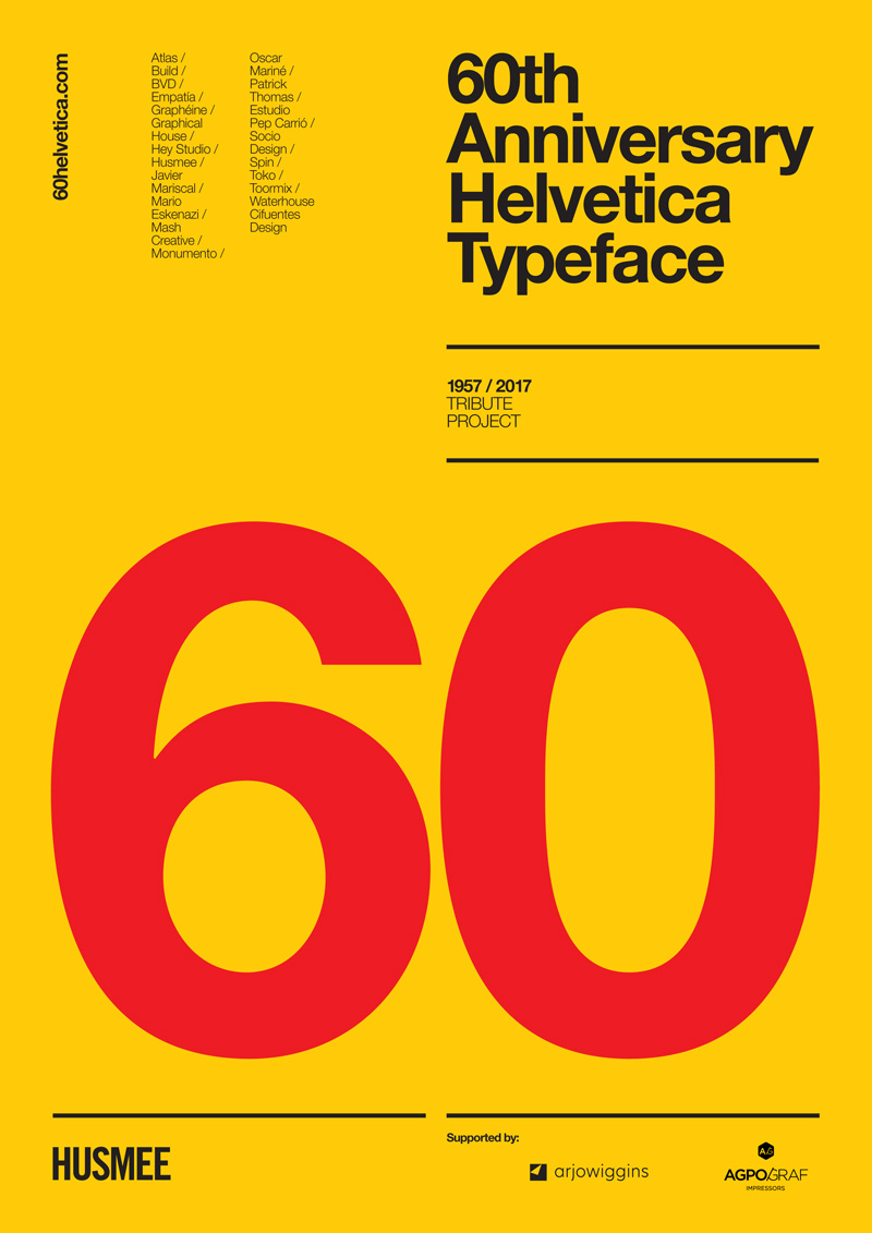 Helvetica th anniversary poster project by various
