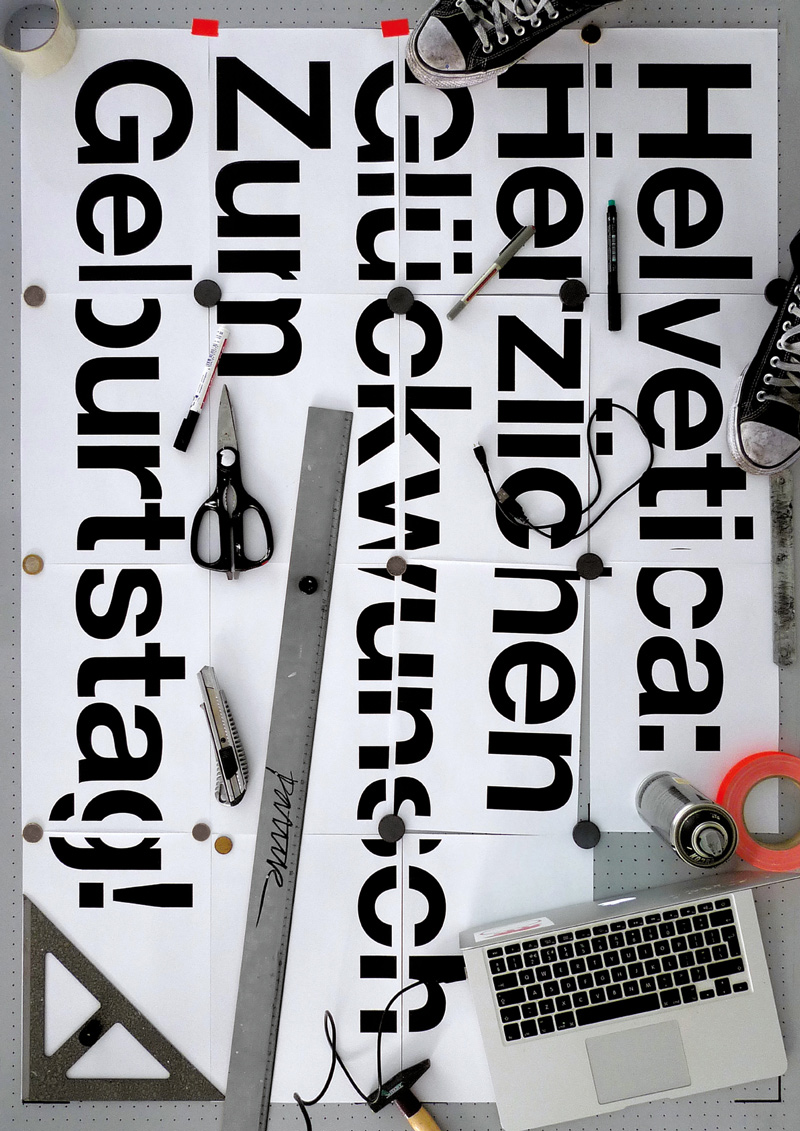 Helvetica 60th Anniversary Poster Project By Various Designers
