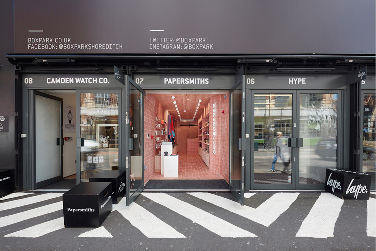 Papersmiths london store design by b for Retail design companies london