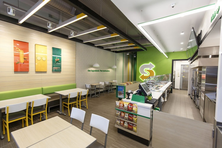"Subway introduces fresh ""modern store concept design week"
