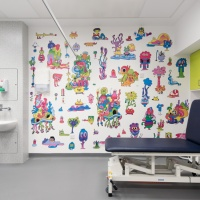 Jon Burgerman creates colourful illustrations for Sheffield Children's Hospital