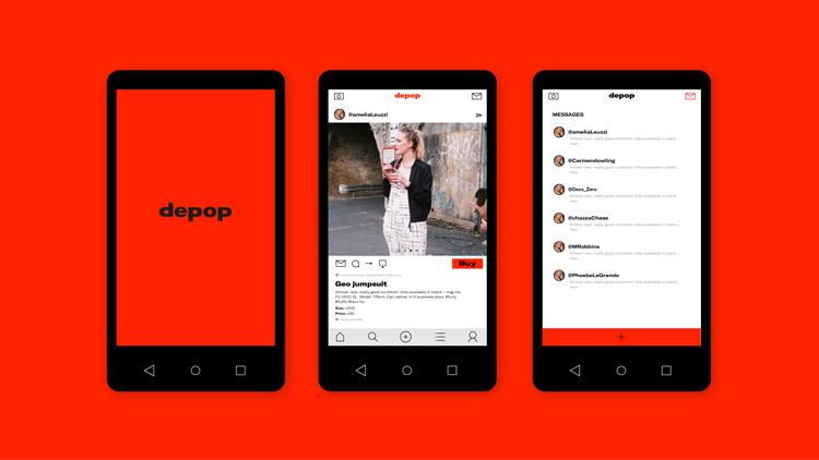 "443aa91424b64 Online shop Depop rebrands to take on ""f*ck it"" attitude | Design Week"