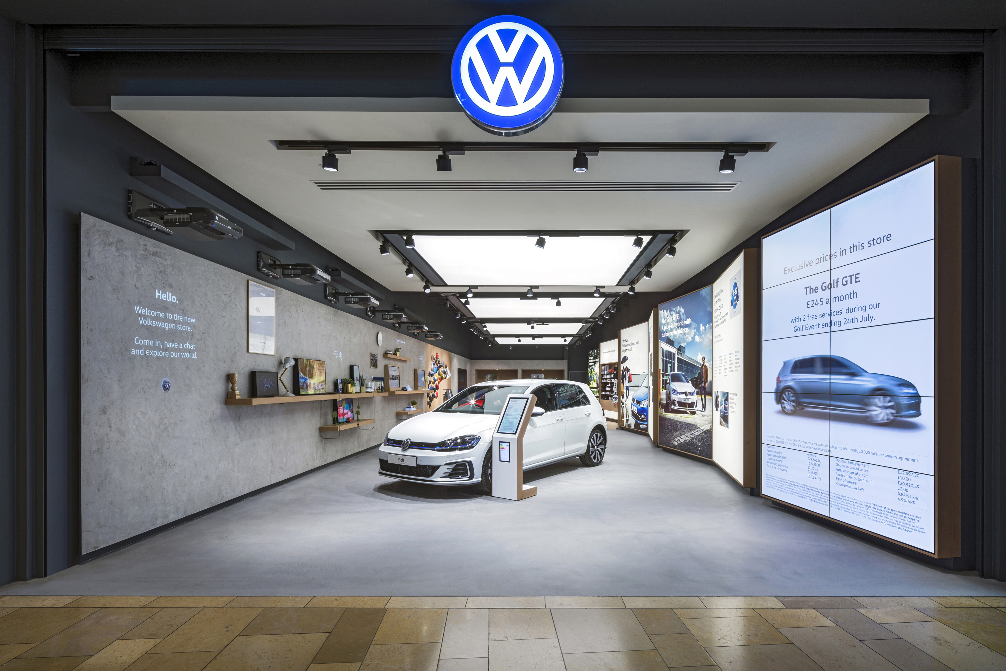 Dalziel and pow creates retail experience for volkswagen for Credit auto garage volkswagen