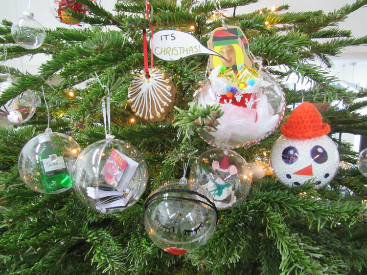 the office christmas ornaments. Along With Decorating The Office Christmas Tree Traditional Festive Ornaments