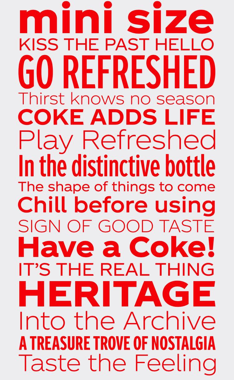 Coca-Cola unveils first own-brand typeface in 130-year history