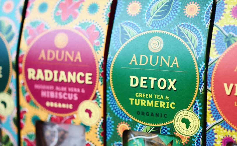 Diseños de cajas coloridas para tés