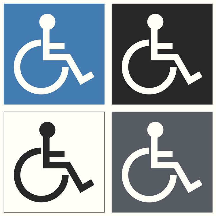 """Redesigning the wheelchair symbol to include """"invisible"""