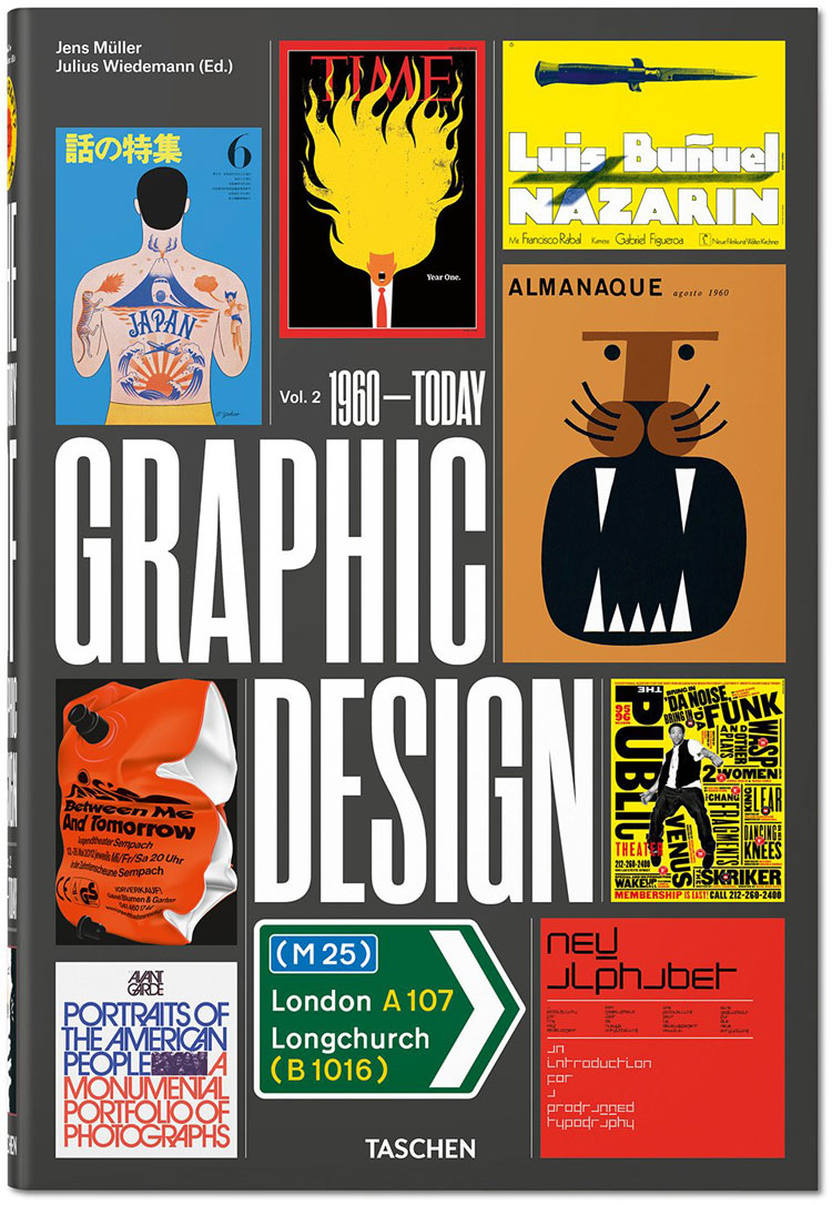 New Taschen book explores graphic design history over past six decades