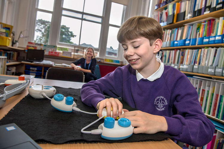"""Classroom Design For Blind Students ~ Microsoft code jumper an """"inclusive toy teaching blind"""