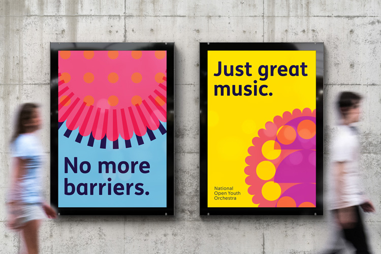 """Studio works with young disabled musicians to create """"accessible"""" identity for orchestra"""
