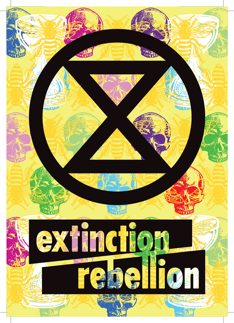 "How Extinction Rebellion designed ""angry but peaceful"" protest graphics"