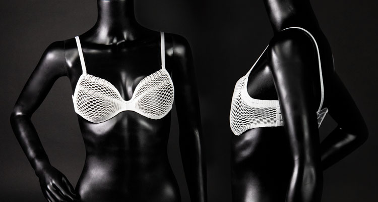 A bespoke lace bra to fit different breast cancer patients