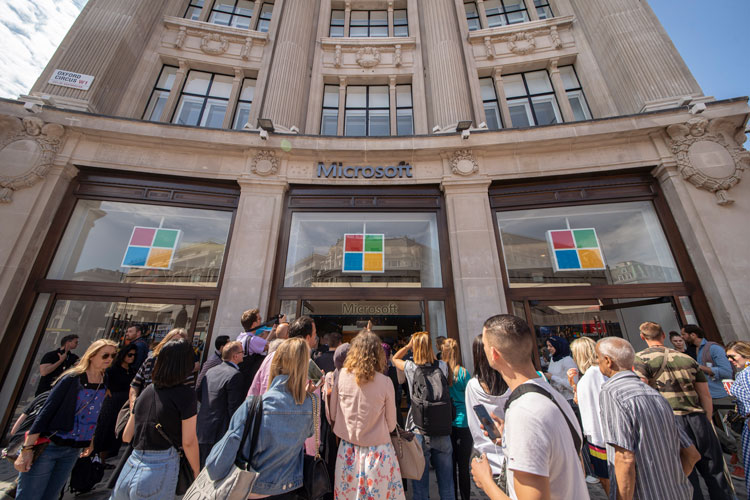 """London's Microsoft store opens with """"maximum flexibility"""" in mind"""