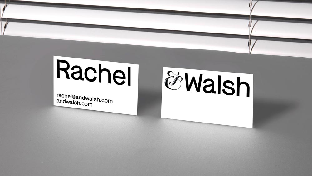 Image of &Walsh by Jessica Walsh company business cards