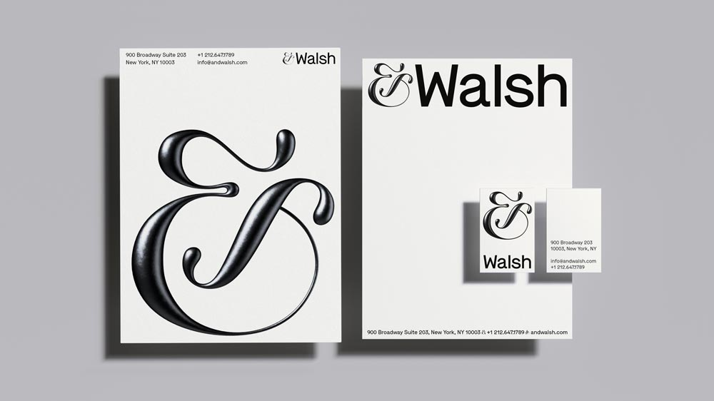 Image of &Walsh by Jessica Walsh company stationery