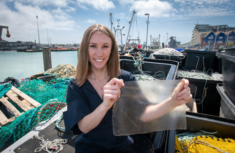 Plastic made from marine waste wins UK James Dyson Award 2019
