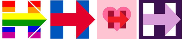 Hillary logos
