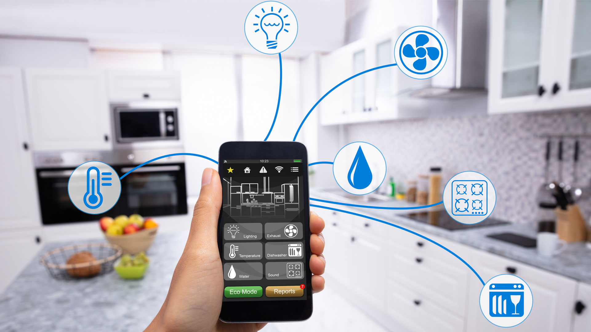 Smart home image courtesy of iStock