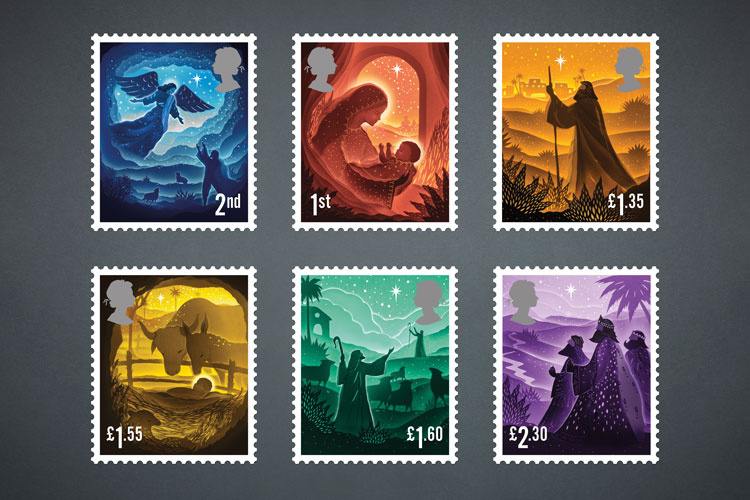 Royal Mail Unveils 2019 Christmas Stamps Design Week