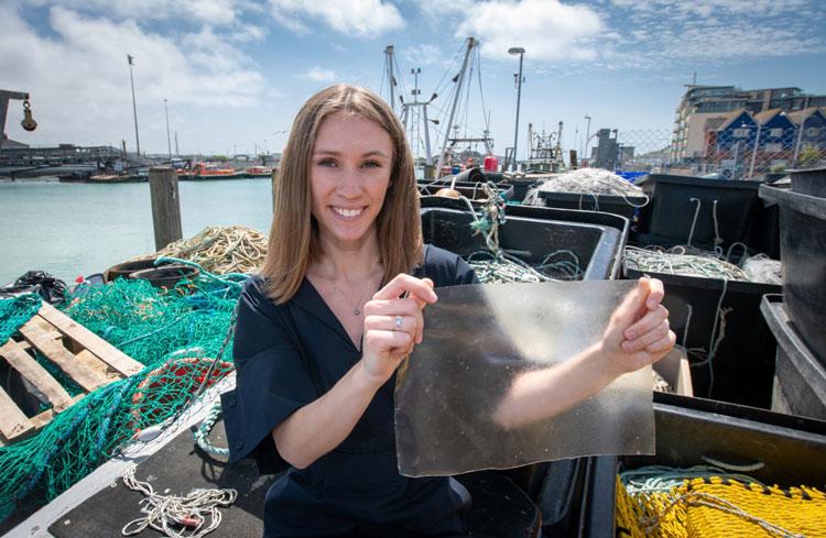 Plastic alternative from fish waste wins International Dyson Award