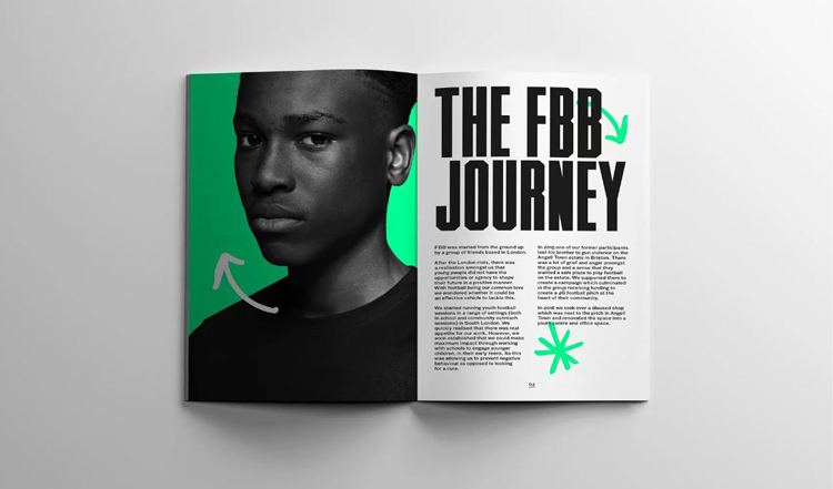 """Rebranding a children's football charity with """"vibrancy and punch"""""""