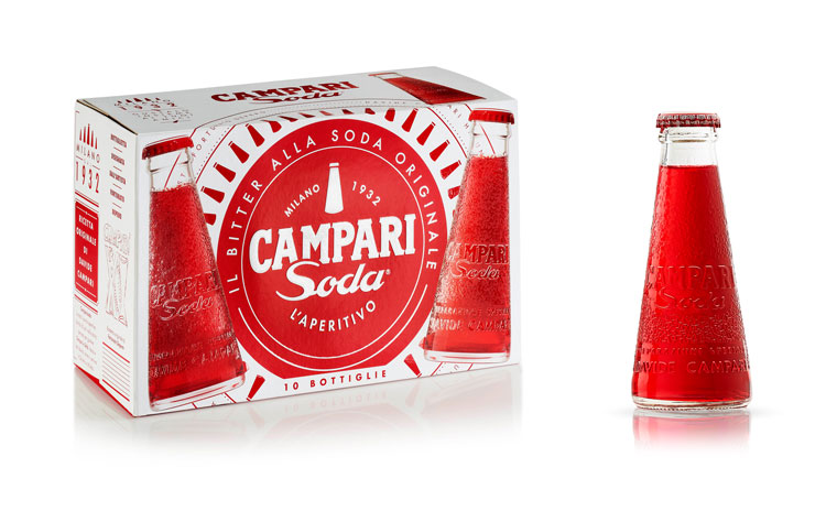 "The Campari Soda redesign celebrates the drink's ""iconic history"""