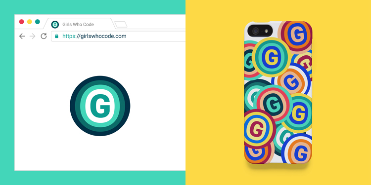 An updated visual identity for Girls Who Code targets Generation Z