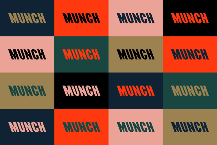 """An """"expressive"""" typographic identity for Oslo's Munch art museum"""