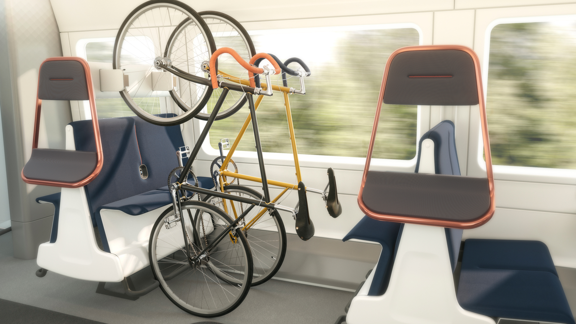 Could a train seat that stores bikes be a solution to post-pandemic travel?
