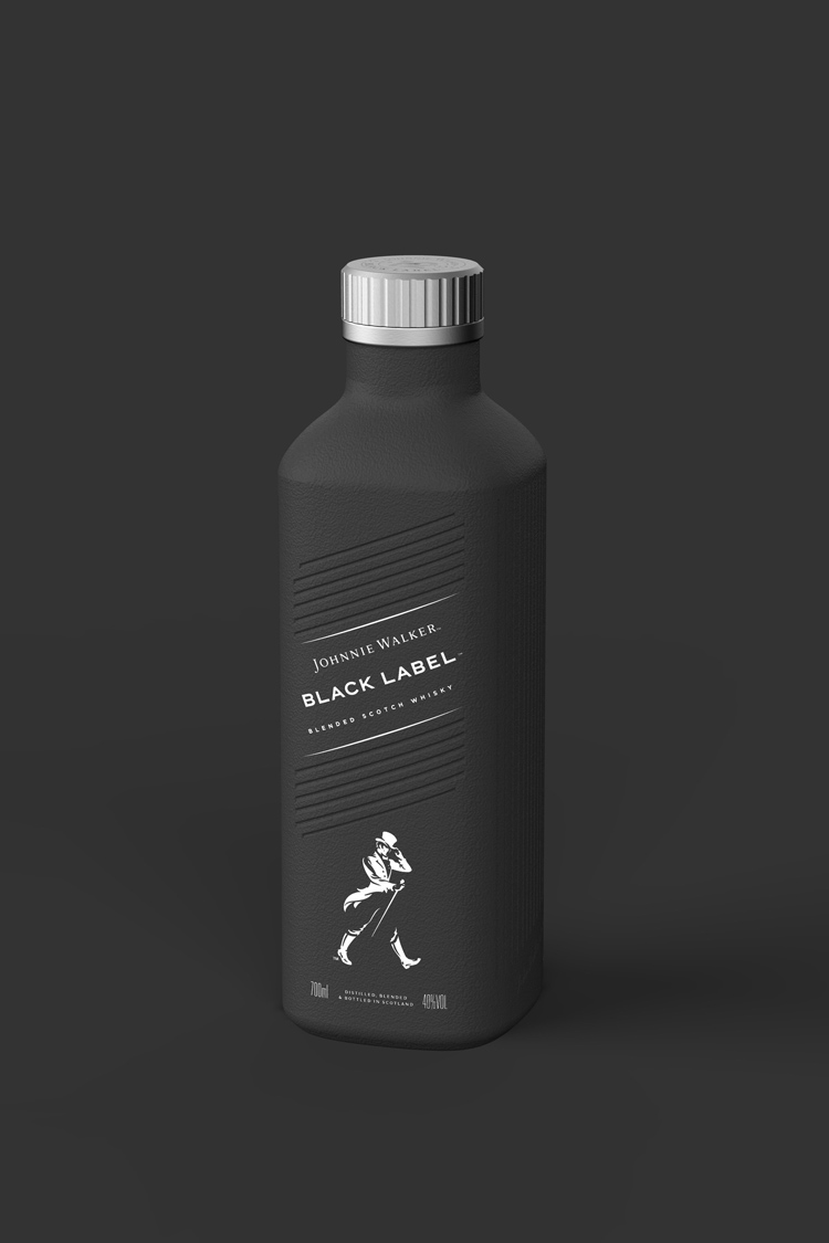 World's first plastic-free paper-based spirits bottle unveiled for Johnnie Walker by Diageo | Design Week