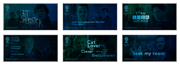 sherlock stamps royal mail UV