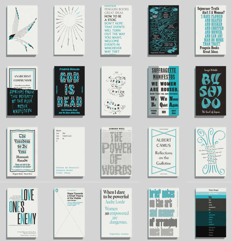Pearson book covers for Penguin