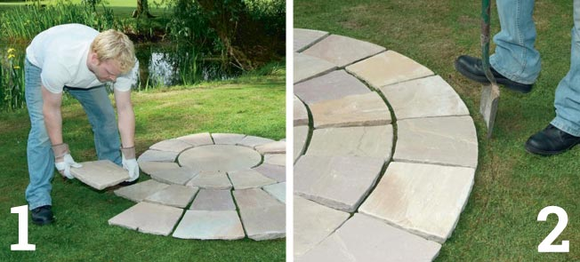 How To Lay A Paving Circle Homebuilding Amp Renovating