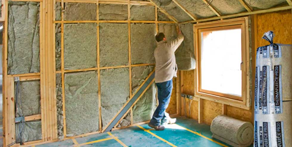 Installing insulation in a loft room