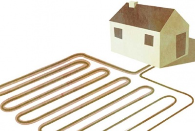 Drawing on ground source heat pump