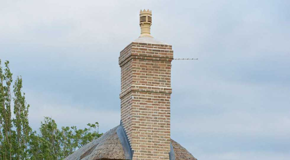 Chimney stack on a listed building