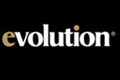 evolution logo gold black