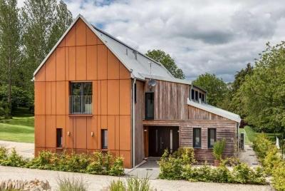 hanse haus selfbuild architecture exterior copper cladding
